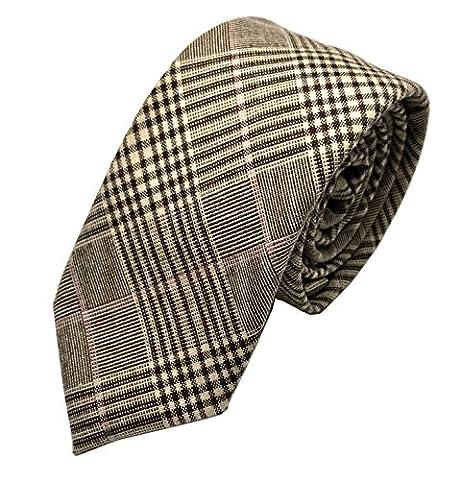 GOOD.designs Cravate slim (6cm) en coton homme - Cravates élegante