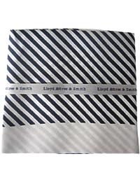 Black and White Stripe Silk Pocket Hankie