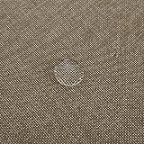 Deconovo Leinenoptik Tischdecke Wasserabweisend Tischwäsche Lotuseffekt Tischtuch 130x130 Taupe - 3