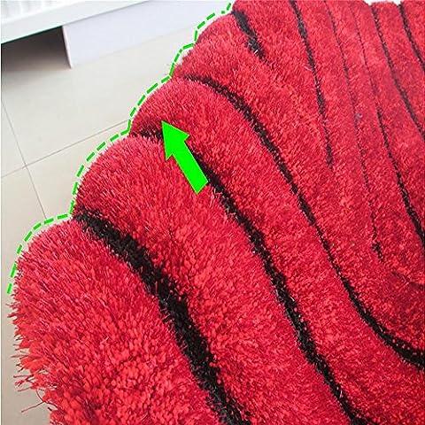 New day-3D Stereo filato elasticizzato moquette di seta soggiorno tappeto divano tappeto tavolino tappeto , red ,