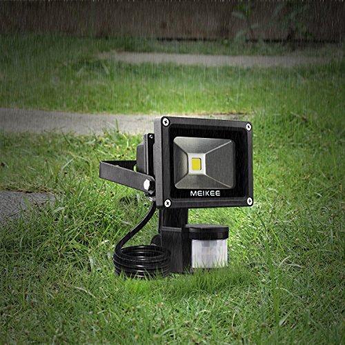 Meikee projecteur led d tecteur de mouvement 10w lumi re for Lumiere led pour exterieur