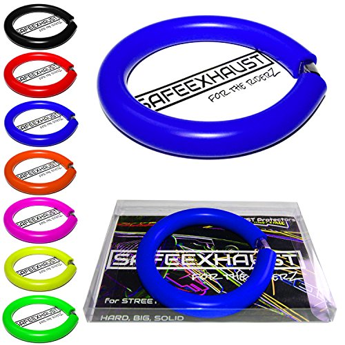 Supermoto Motorrad Auspuffprotektor Auspuffschutz Exhaust Protector (blue) (S)