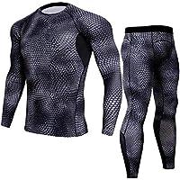 Trihedral-X La Nouvelle Vitesse de s/échage Rapide s/échage Costume for Hommes v/êtements de Fitness Respirant /à Manches Longues Collants de Course