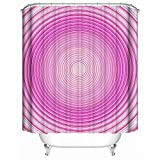 Xijia Shower Curtain Duschvorhang, kreative hypnotische Spirale im rosa Hypnose-abstrakten Kreis, Weiches Polyester | Wasserdichtes Gewebe Bad Vorhang Design 60