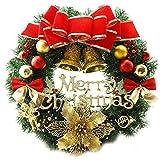 Weihnachten Kränze Frohe Weihnachten Kranz Girlande Fenster Tür Dekorationen Rot 30 CM