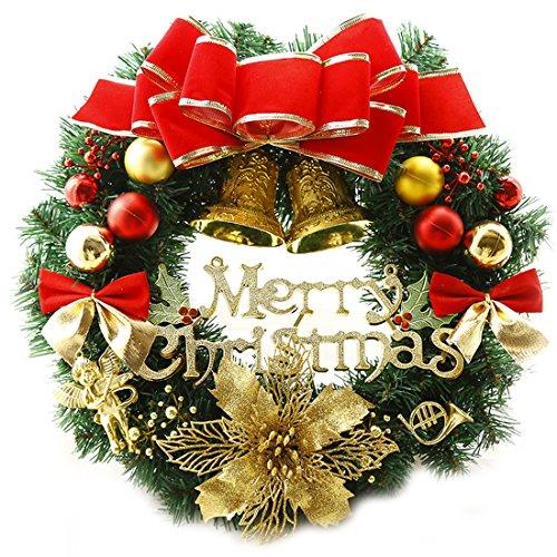 (Weihnachten Kränze Frohe Weihnachten Kranz Girlande Fenster Tür Dekorationen Rot 30 CM)