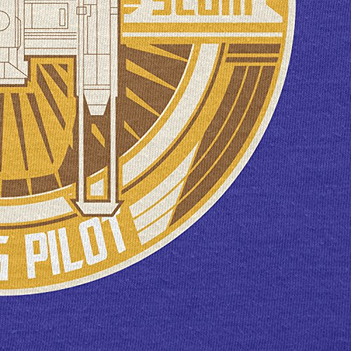 TEXLAB - Y-Wing Pilot Logo - Herren Langarm T-Shirt Marine