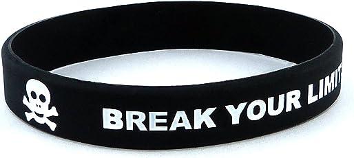 Fitness e Bodybuilding Braccialetto Break Your Limits Allenamento Sport Centro di Fitness Stile di Vita CrossFit Accessorio Silicone Gomma Elastico Unisex Nuovo