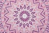 """Große Runde Bodenkissen, Indian Ombre Mandala Kissen- 32 """", Dekoüberwurf, Boho Pouf Ottomane, Roundie Kissen Sham, Pompon Outdoor-Kissen - 2"""