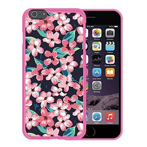 iPhone 6 Plus | 6S Plus Hülle, WoowCase Handyhülle Silikon für [ iPhone 6 Plus | 6S Plus ] Chic Stil Gestreiftes Herz Handytasche Handy Cover Case Schutzhülle Flexible TPU - Transparent Housse Gel iPhone 6 Plus | 6S Plus Rosa D0097
