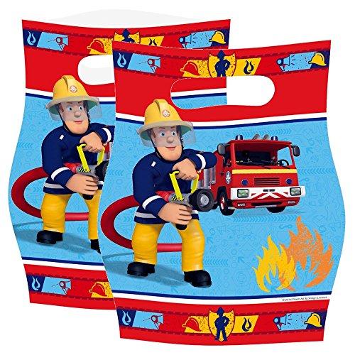 Sam Le Pompier, Sacs Cadeaux Fêtes d'Anniversaire, 8 Pièces