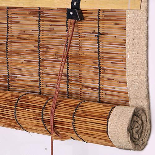 JU FU Rollo Bambus Vorhang - hochwertige Reed Heben Dekoration Rollo Retro wasserdicht und Mehltau ökologische Sonnenschirm Partition Vorhang 3 Farben - mehrere Größen @ (Reed Jalousien)