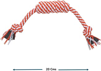 Foodie Puppies Durable Cotton Twisted Dog Chew Rope Toy for Small to Medium Dogs - Interactive Teething Rope Toy to Play with (Color May Vary)