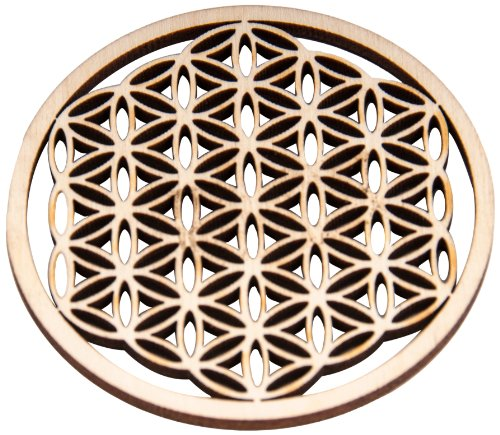 Berk EN-070 Meditations-Zubehör - Blume des Lebens aus Holz, 6 cm