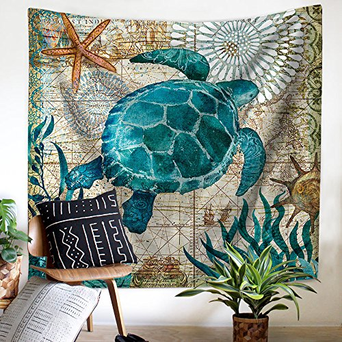 Pyhq mare oceano animali arazzo appendere la parete,100% tessuto in poliestere la pittura,multi-use:coperta di picnic,le tende,telo mare,tovaglia,yoga mats,urban hippie bohemia boho mandala mediterraneo art