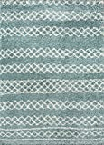 momeni Teppiche maya0may-3blu2030Maya Collection Ultra-Dick Hochflor Bereich Teppich, 2'x 3', blau