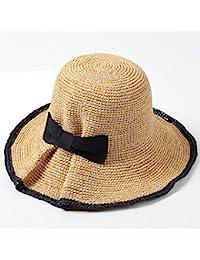 Cappello ZHIRONG Paglia da Donna Fatto a Mano Spiaggia all aperto  Protezione Solare Estivo Donna Casual Visiera… 67c9160ece62
