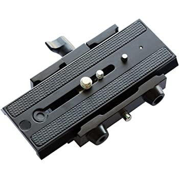"Flycam Cnc Aluminium Made Robust Quick Release Camera Base Plate With 1/4"" And 3/8"" Screws (Flcm-Qr)"