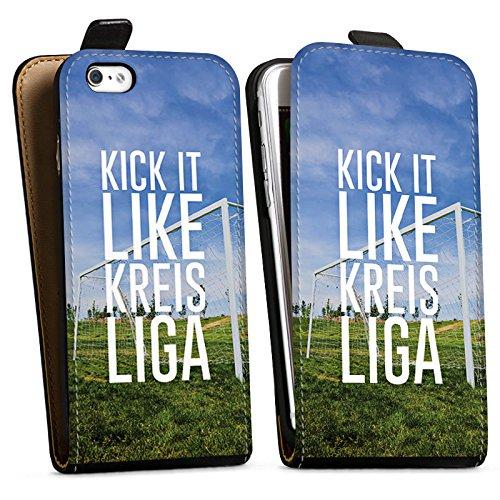 Apple iPhone X Silikon Hülle Case Schutzhülle Kreisliga Fußball Tor Downflip Tasche schwarz