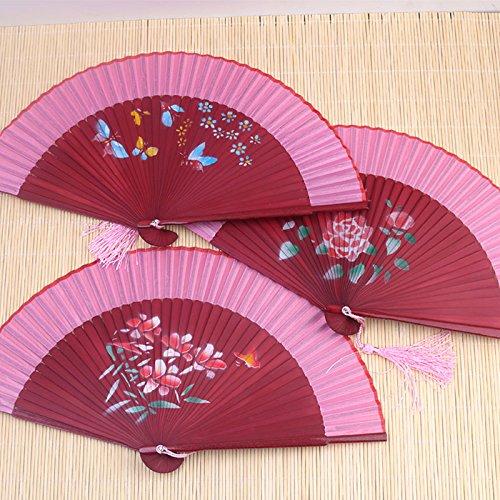 ostüm täglichen klassischen literarischen Männer und Frauen tanzen im Sommer Leistung Fotografie Requisiten chinesische klappbare Ventilator , Rot Roten Knochen Nehmen Sie zufällige (Literarische Kostüme)