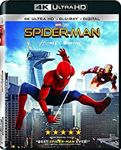 Spider-Man: Homecoming (Uncut) [4K Ultra HD/Blu-ray] (2017) | Imported from USA | Sony Pictures | 133 min | Action Sci-Fi Dolby Atmos| Director: Jon Watts | Stars: Michael Keaton, Robert Downey Jr.
