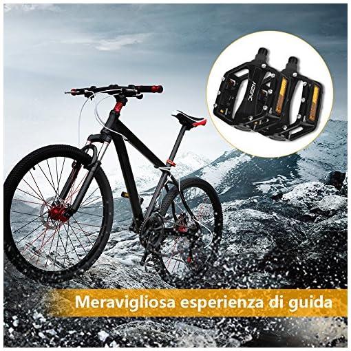 YISSVIC Pedali Bicicletta Ciclismo Alluminio per Bici MTB BMX Bici da Corsa City Bike ecc