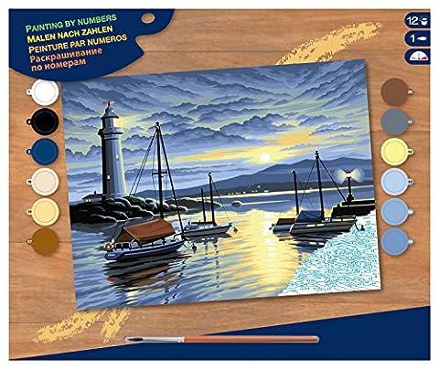 Peinture à Numéros - Levé de Soleil au Port