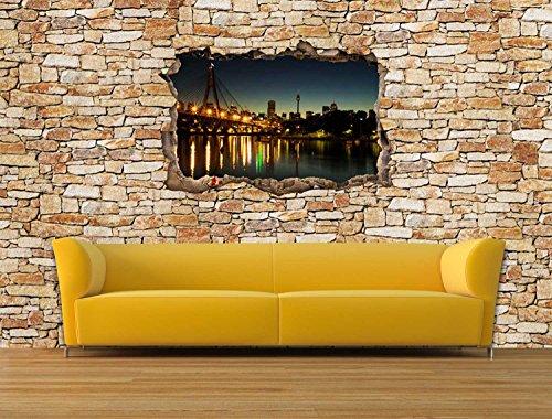 Dalinda® Designtapete Vliestapete in 3D-Optik Australien Sydney Natursteinmauer hell Tapete VT2378