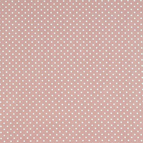Hadsons Polka Dots Polycotton Stoff Stoff Stoff Stoff mit Punktemuster zum Nähen, Quilten, Carfting - Breite 114 cm - Meterware (0,25 cm) Peach White Dots -