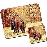 Poni y poni alfombrilla de ratón/Pad y posavasos Shetland Pony Grazing Pasture