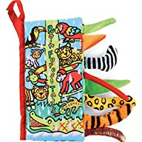 Koly® Infant Kid Baby Zoo Animal Tails Cloth book Baby Toy Cloth Development Books Learning Education Books (C)