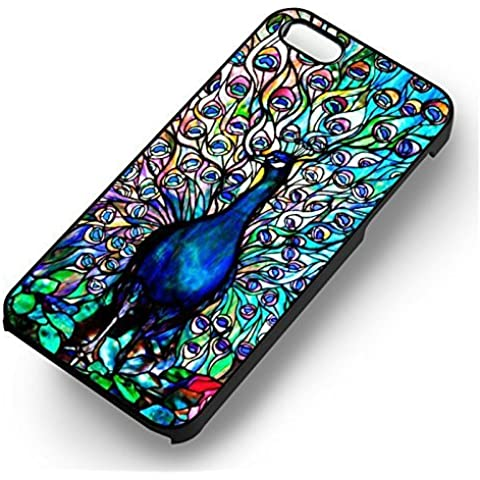 Beautiful Peacock Art for Cover Iphone 6 and Cover Iphone 6s Case (Black Hardplastic Case) O6R0MU - Show Off Peacock