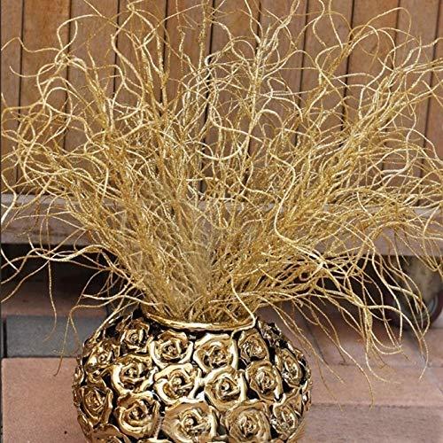 46 cm Lange Künstliche Pflanzen Simulation Vergoldeten Gras Weihnachten Ornamente Glitter Bling Künstliche Blumen für Home Dekoration (Ornamente Vergoldete Weihnachten)