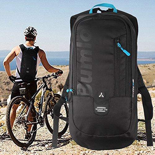 Radfahren Rucksack Leicht Fahrrad Rucksack Mini Tasche 10L wasserabweisend für Radfahren Laufen Wandern Camping Outdoor Sport Schwarz