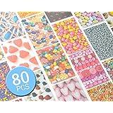 80feuilles en film bordures coloré sticker Vivid Color Decor Décoration peau Message Mémo pour Mini Film Fujifilm Instax Mini 8/Instax Mini 7s/Instax Mini 25/Instant Mini 50s/instantané Mini 90Film–Candy