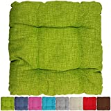 PROHEIM Outdoor Stuhlkissen 40 x 40 x 8 cm wasserabweisendes Sitzkissen mit Fleckenschutz stark Gepolstertes Weichstuhlkissen für Indoor und Outdoor, Farbe:Apfelgrün