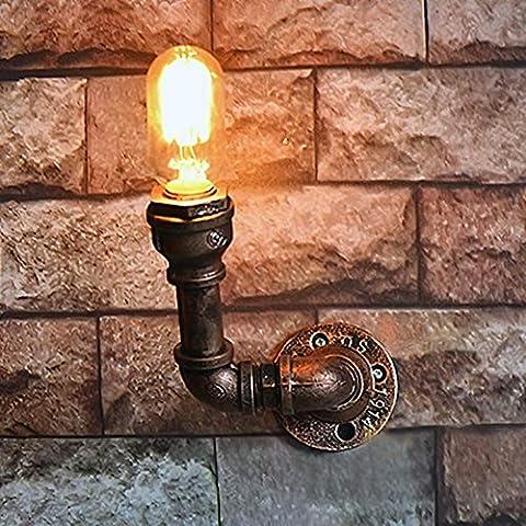 VanMe Fashion Wrought Iron Water Pipe Wall Lamp Single Head