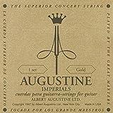 Augustine 650457 - Cuerdas para Guitarra Clásica, Etiqueta Imperial, Juego dorado, Tensión alta, Cuerdas graves en Tensión Light