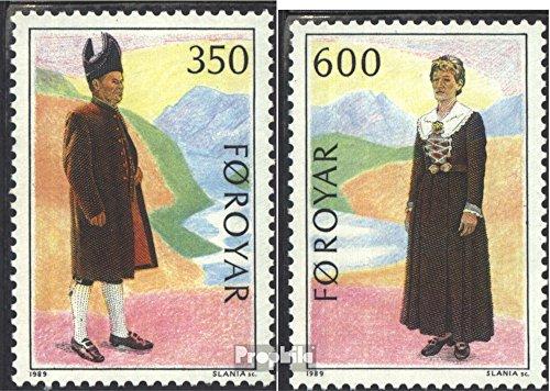 Dänemark-Färöer 182-183 (kompl.Ausg.) 1989 Volkstrachten (Briefmarken für (Volkstrachten Französische)