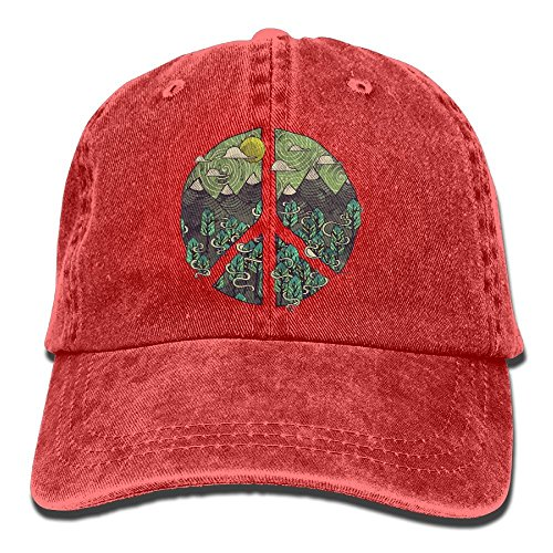 Nizefuture Nature Peace Sign Vintage Jeans Baseball Cap for Men and Women (Ax-men Hat)