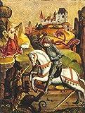 Kunstdruck/Poster: Hans Mayr von Landshut Der Drachenkampf