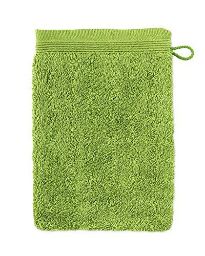 möve Superwuschel Waschhandschuh 15 x 20 cm aus 100% Baumwolle, peridot - Grüne Waschlappen