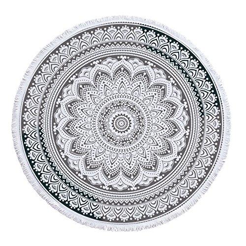 SUYUN Tappetino da Yoga con Telo Mare Rotondo con Telo Bagno con Nappe -04 150 * 150 cm