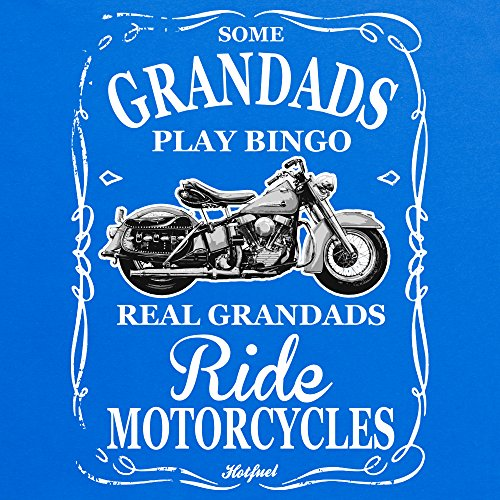 Real Grandads Ride T-Shirt, Herren Royalblau