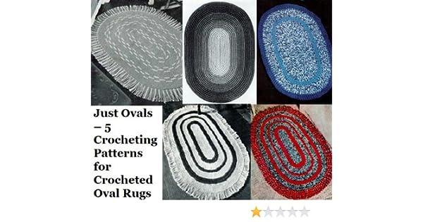 Nur Ovale 5 Häkeln Muster Für Gehäkelte Ovale Teppiche Ebook