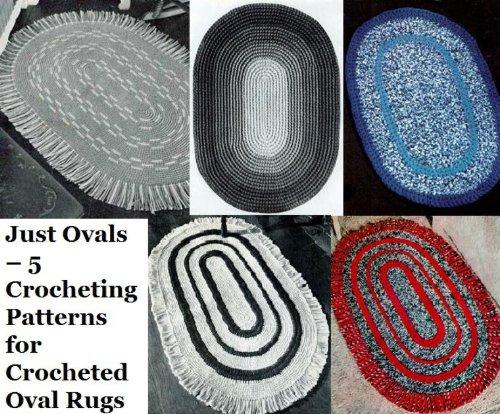 Sólo óvalos – 5 patrones de ganchillo para mantas ovales ganchillo (Spanish...