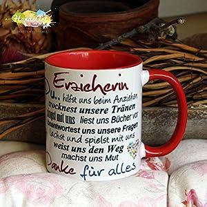Kaffeebecher ~ Tasse - Erzieherin ~ ROT