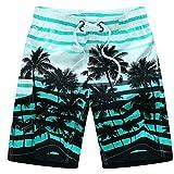 Asvert Bañadores para Hombre Transpirable Pantalones Cortos Short de Rayas Coloridas y la Playa para Deporte de Aire Libre Natación Playa Piscina y Partque Acuático