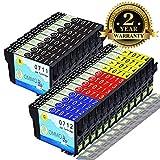 Druckerpatrone T0711 T0712 T0713 T0714 Kompatibel mit Epson Stylus SX218 SX415 SX200 SX515W DX4050 DX8450 DX7450 DX8400 SX210 SX100 SX400 DX4400 (8 Schwarz,4 Cyan,4 Magenta,4 Gelb)-Colorfish