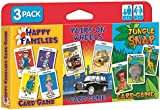 Children's Card Games - Jungle Snap, Pairs on Wheels & Happy Families 3 PackP